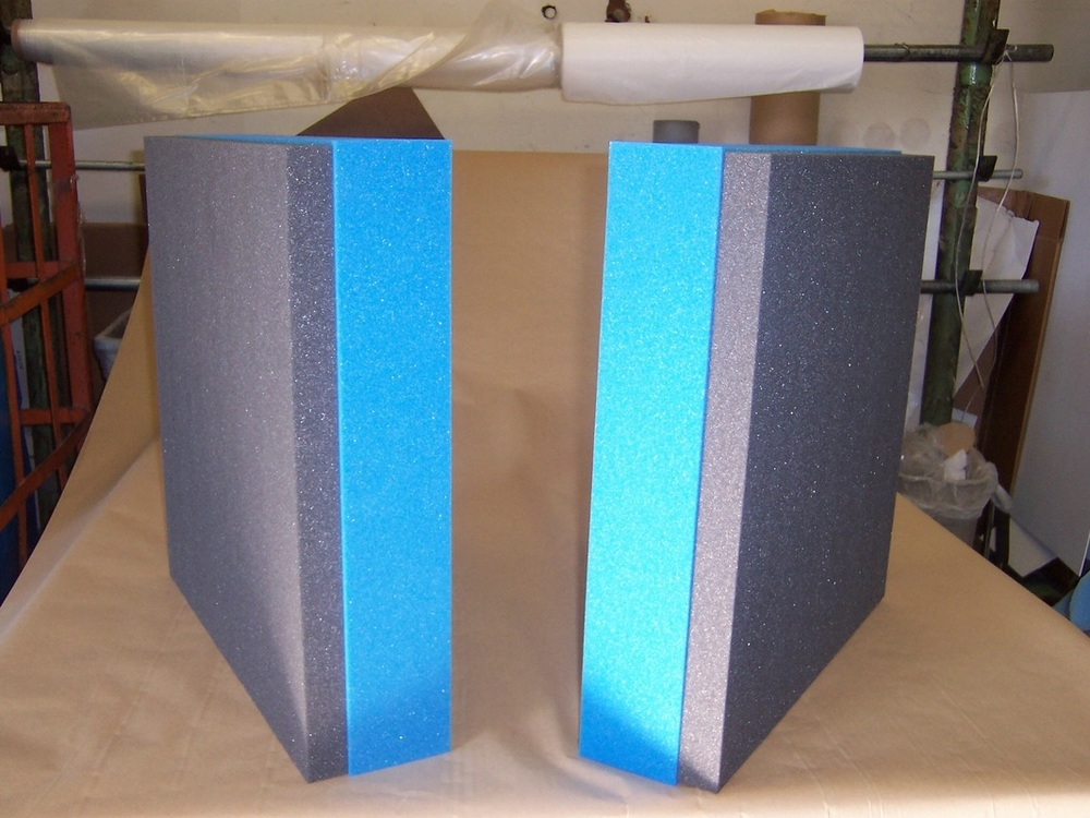 Foam laminations gluing fabrication