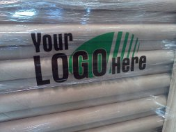 Logo printing on clear pallet wrap stretch films