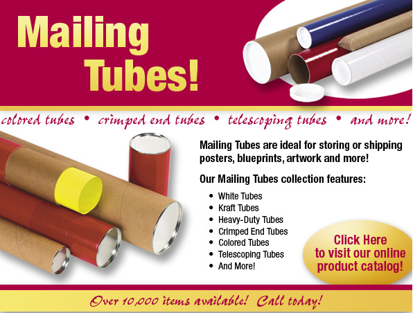 Shop our stock warehouse for mailing shipping tubes