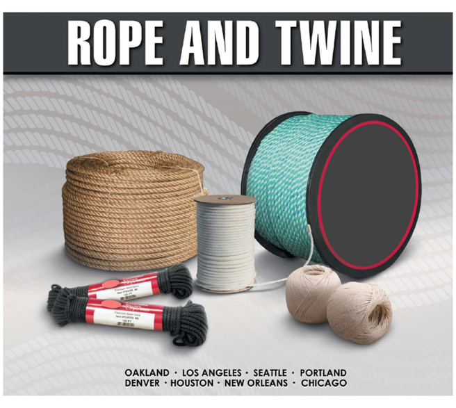 Quality rope cord and twine tying products