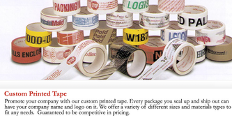 Contact Us For Custom Printed Tapes