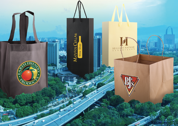 Retail shopping bags gift store packaging