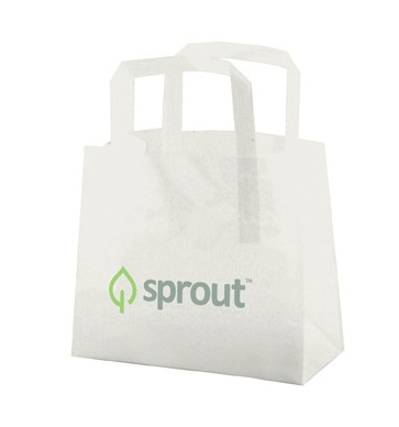 Plastic shopping bags, tri fold handle, restaurant bags, bagel bread bags