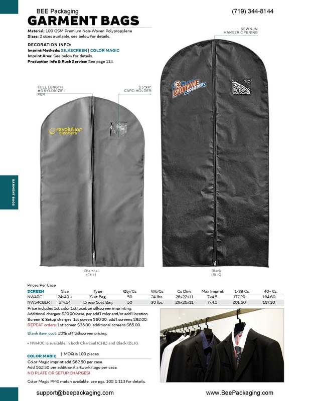 Dry cleaning garment bags cover suits clothing