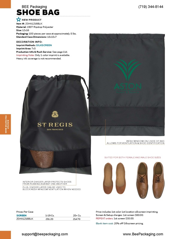 Custom logo printed printing on shoe bags with pull draw string