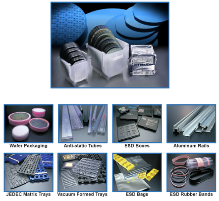 Anti-static protection products plastic ic shipping tubes and wafer packaging