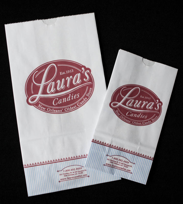 Printed pleated stand up paper bags