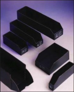 black conductive esd anti static bin boxes