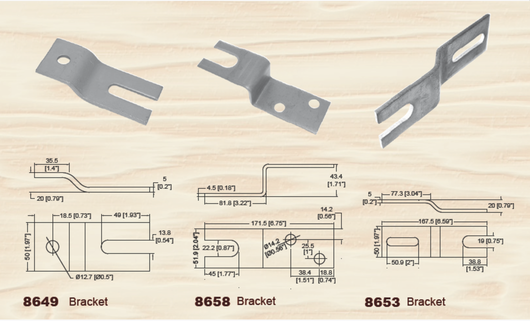 Steel brackets wooden box hardware
