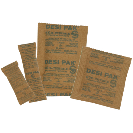 Clay desiccant packs Mil-D-3464E