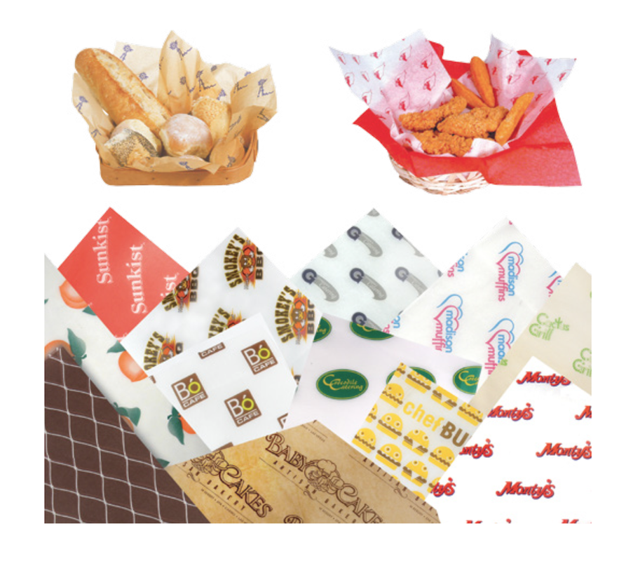 Deli Sandwich Foodservice food wrap paper sheets printed