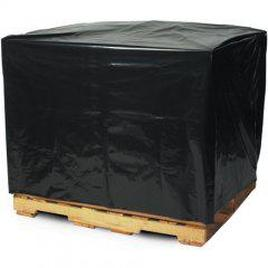 Black opaque plastic pallet covers