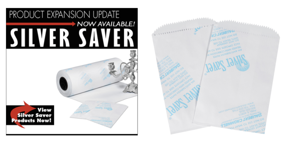 Silver saver anti-tarnish paper rolls and bags