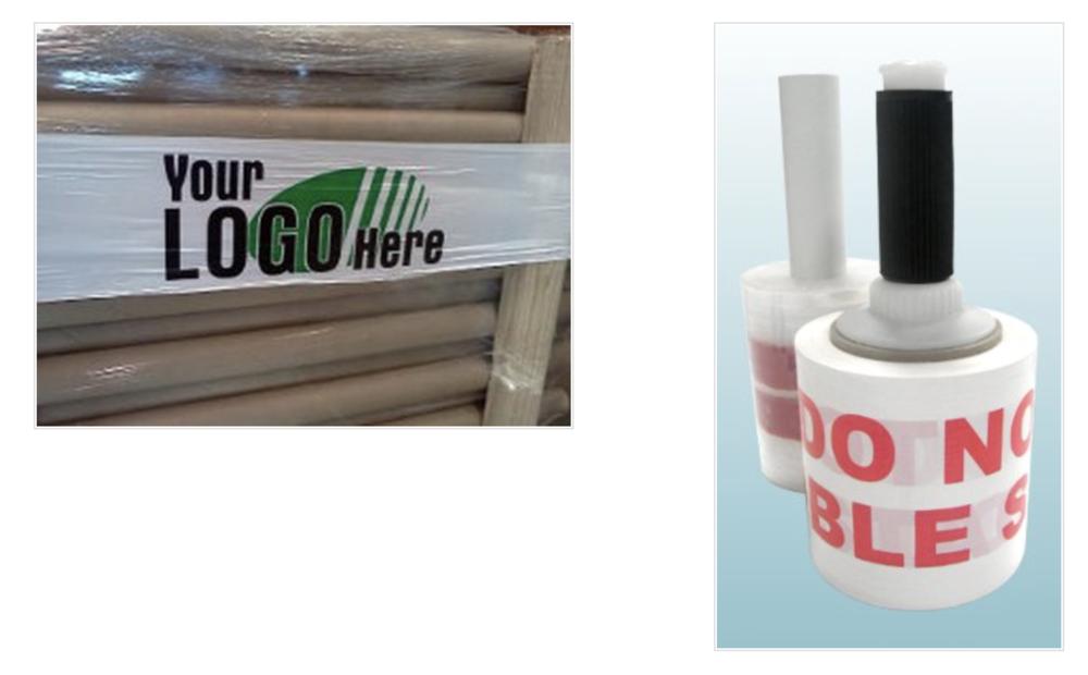 Logo printing name on stretch film pallet wrap and bundling films