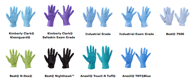 Medical exam hand protection nitrile gloves