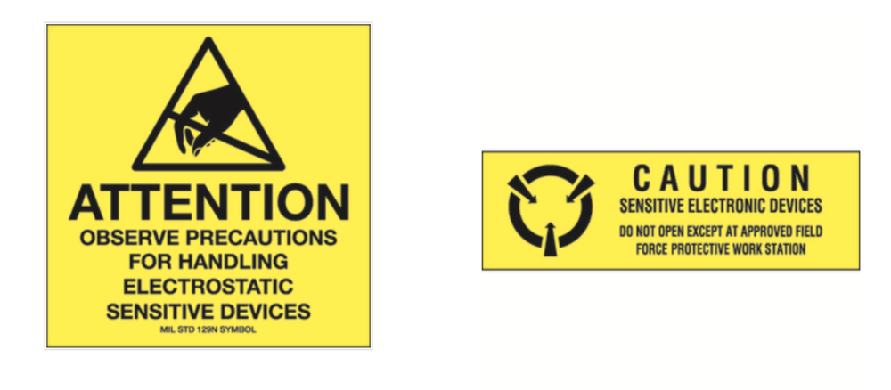 Attention Caution esd antistatic labels for sensitive electronics