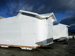 White heat shrink wrap film for wrapping mobile homes houses cars