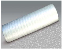 Industrial stretch netting for wrapping pallets