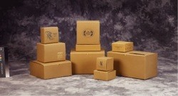 Natural brown kraft printed gift boxes
