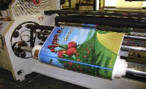 Film printing for printed food bags
