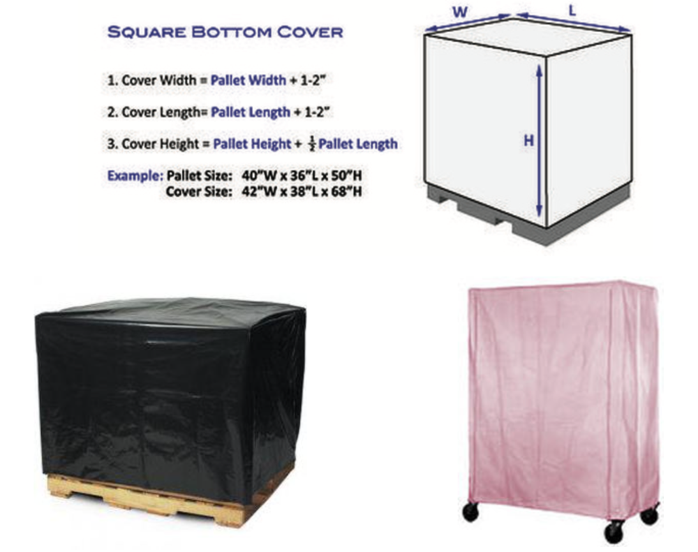 Pallet covers square bottom bags for dust protection