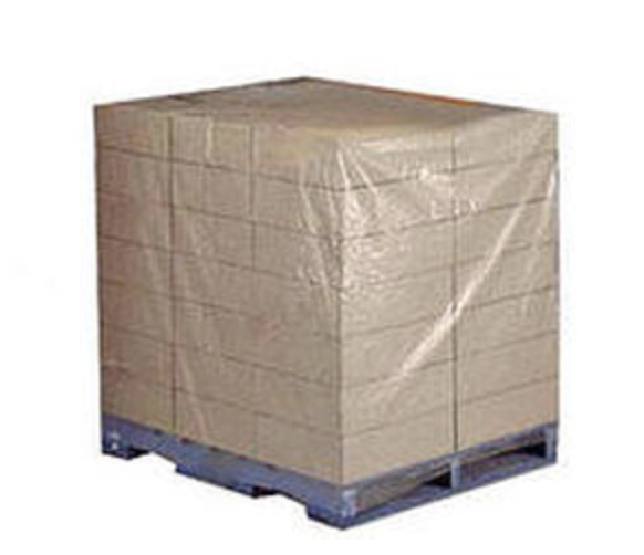Three dimensional square bottom large plastic bags pallet covers