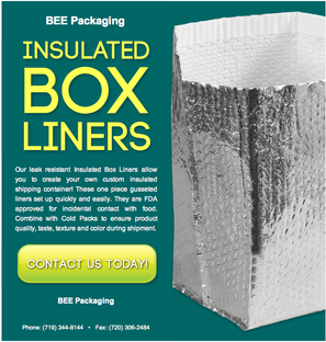 Insulating Foil bubble bag box liners