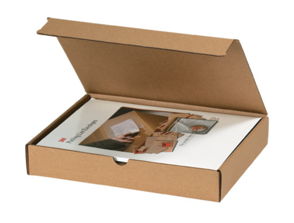 Brown kraft literature mailers click to order