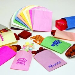 Printed Paper Bags Mailing Food