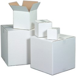White Corrugated Shipping Boxes