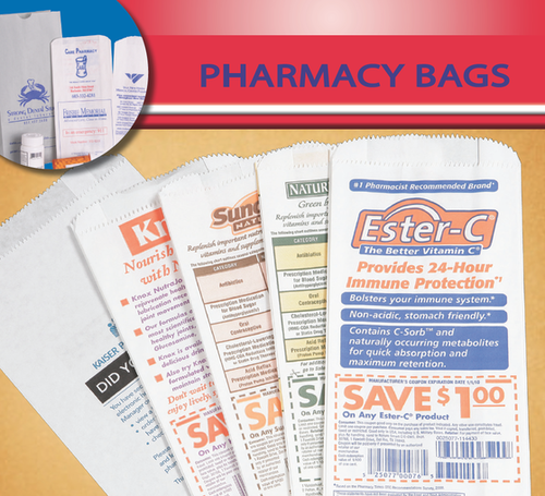 Paper pharmacy drug food bags