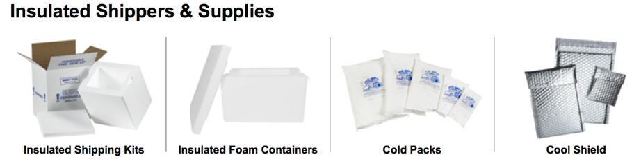 Dry ice boxes eps foam lined insulated shippers gel packs and foil bubble bags for cold frozen shipping