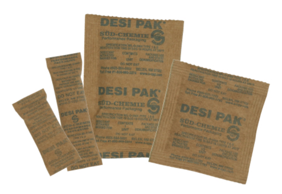 Clay desiccant moisture absorbers