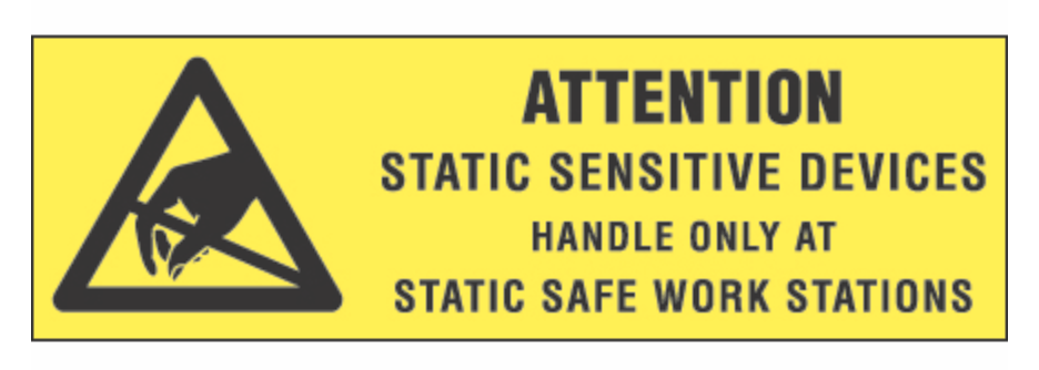 "5/8 x 2"" - ""Attention - Static Sensitive Devices"" Labels Boldly display instructions and warnings with pressure sensitive labels."