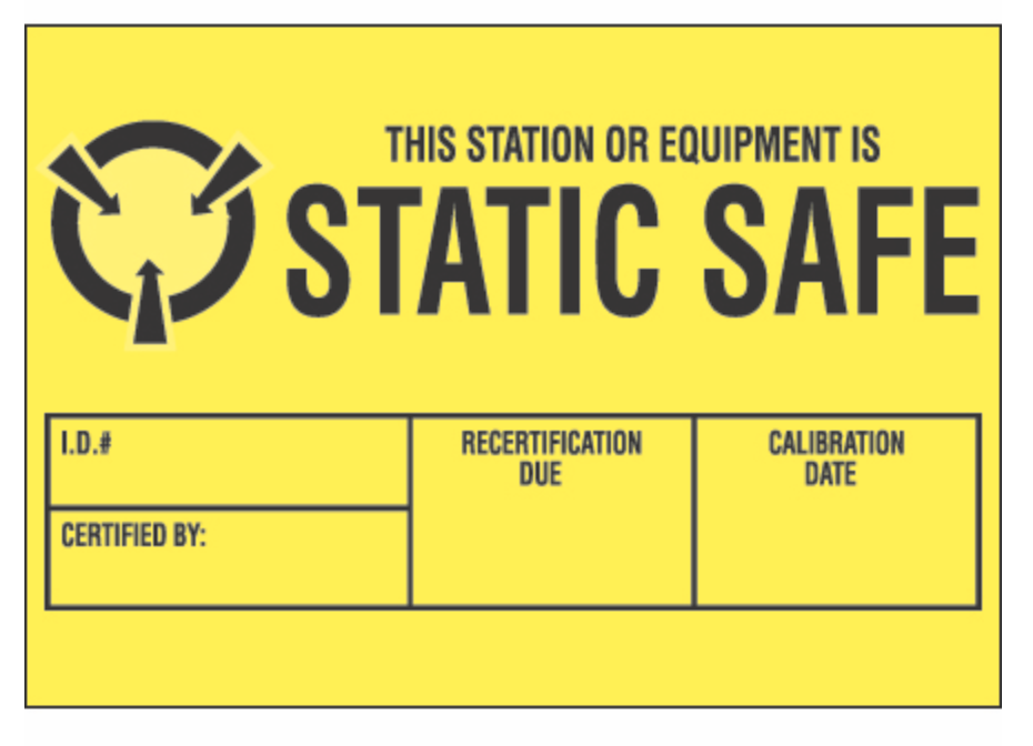 "1   3/4   x 2   1/2  "" - ""Static Safe"" Labels"
