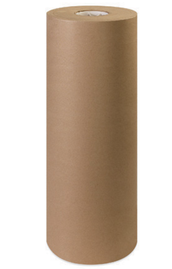 Brown paper rolls table wrap art wrapping