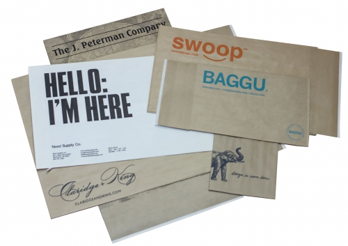 Ink printed paper shipping mailing bags with your company logo
