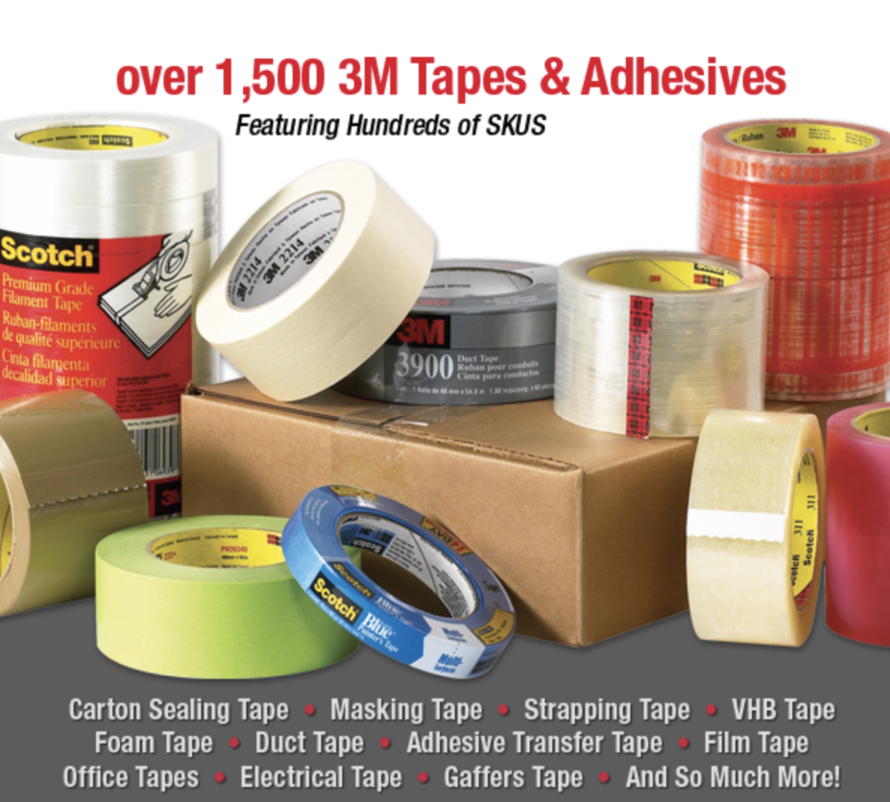 3M Tape carton sealing box tapes masking duct fillament
