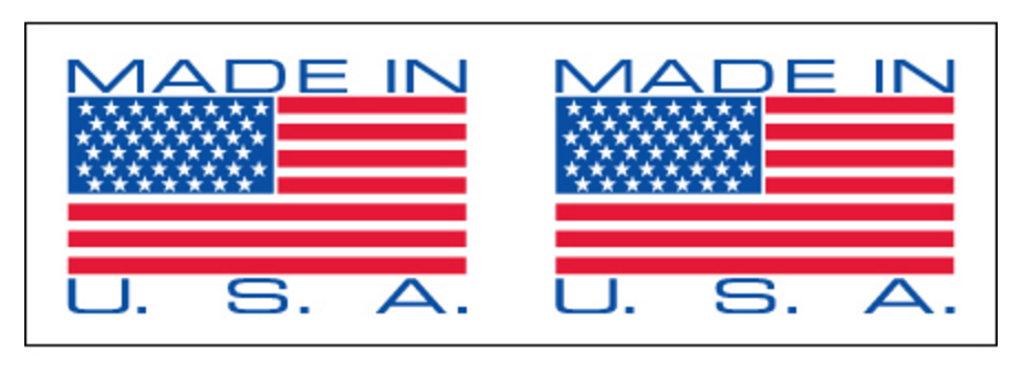 Made in the U.S.A. tape USA label marking boxes