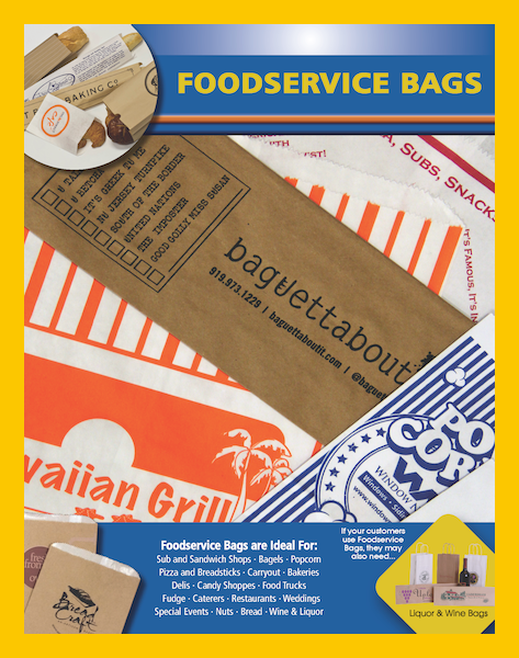 Printed paper bread bags food service