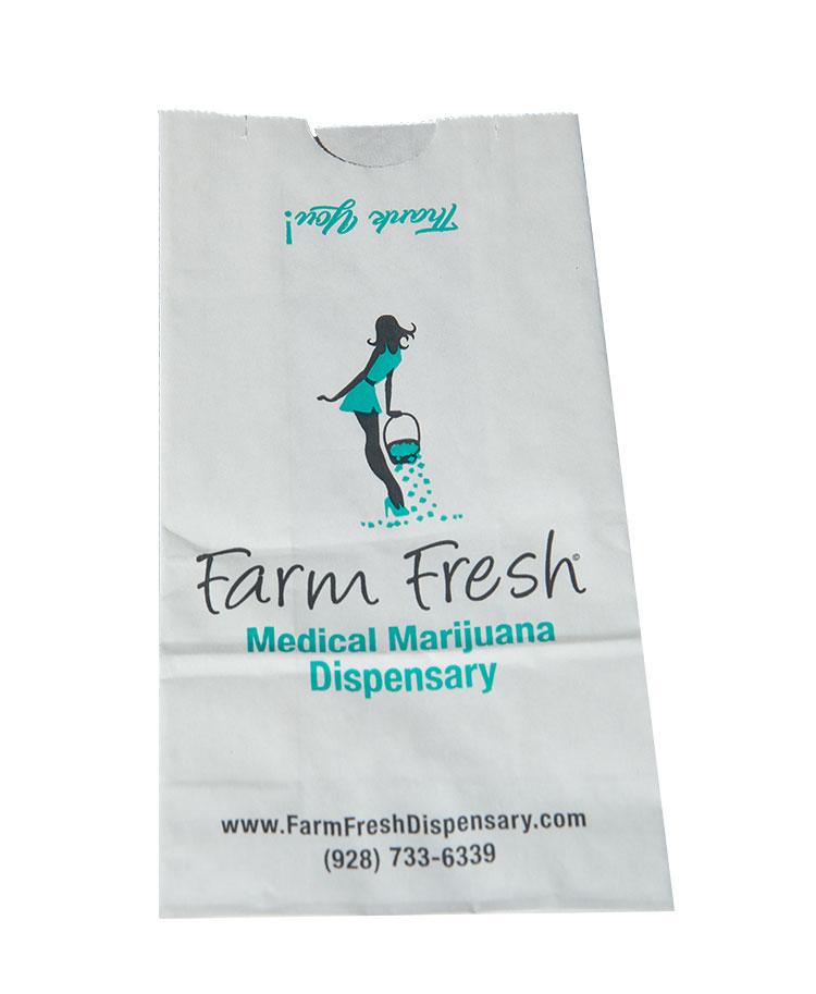 SOS pharmacy bag sack logo printed custom medical marijuana dispensary bag