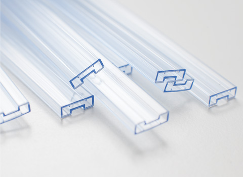 Custom and stock sized clear antistatic plastic tubes