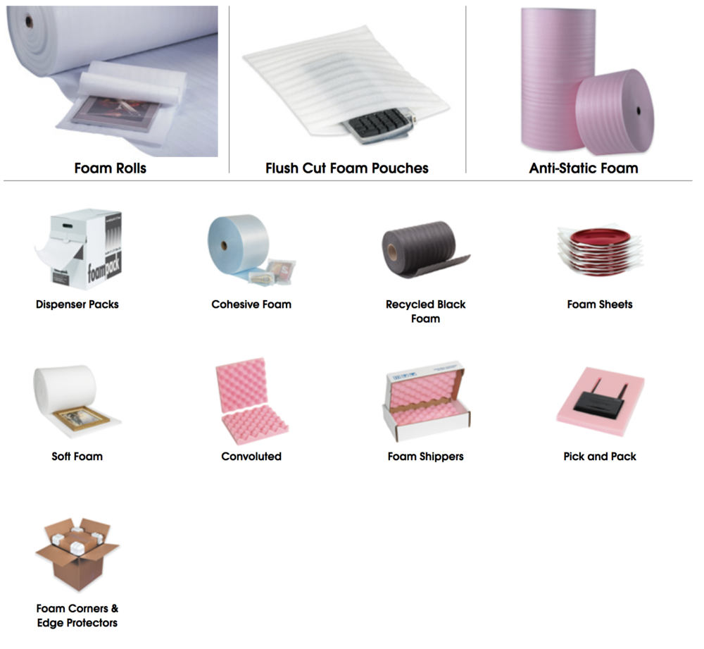 Stock foam products