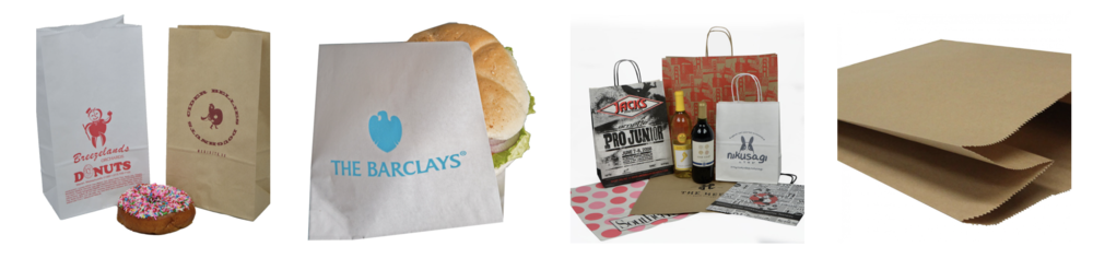 Printed Paper Foodservice Concession Bags Paper Sacks