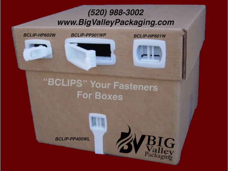 BCLIP box clips plastic carton fasteners snap in connectors HP601W HP602W PP901WP PP400wl
