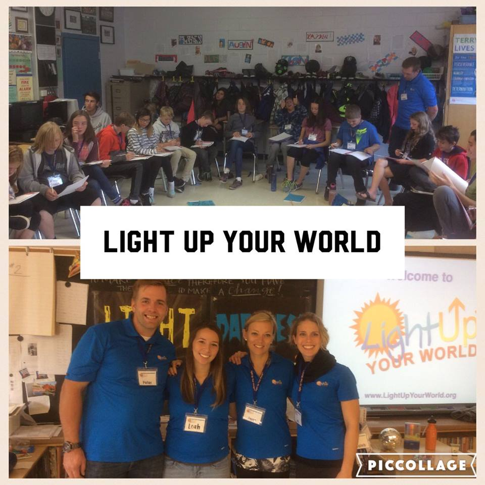 Light Up Your world - Spruce glen school - october 2016