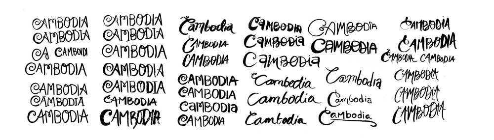 Process for hand lettering.