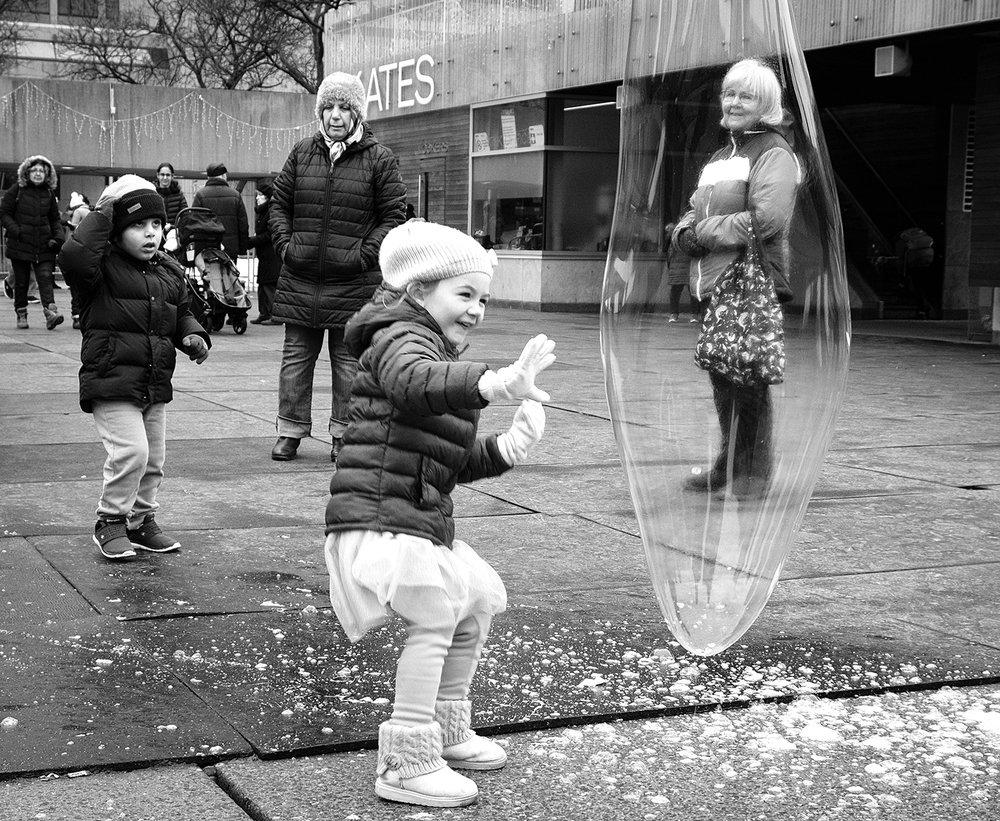 Joy is just a bubble away