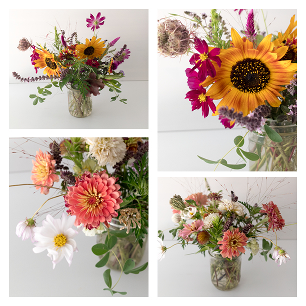 Photos of my favorite (so far!) bouquets purchased from Sweetgum Farm in Richmond.