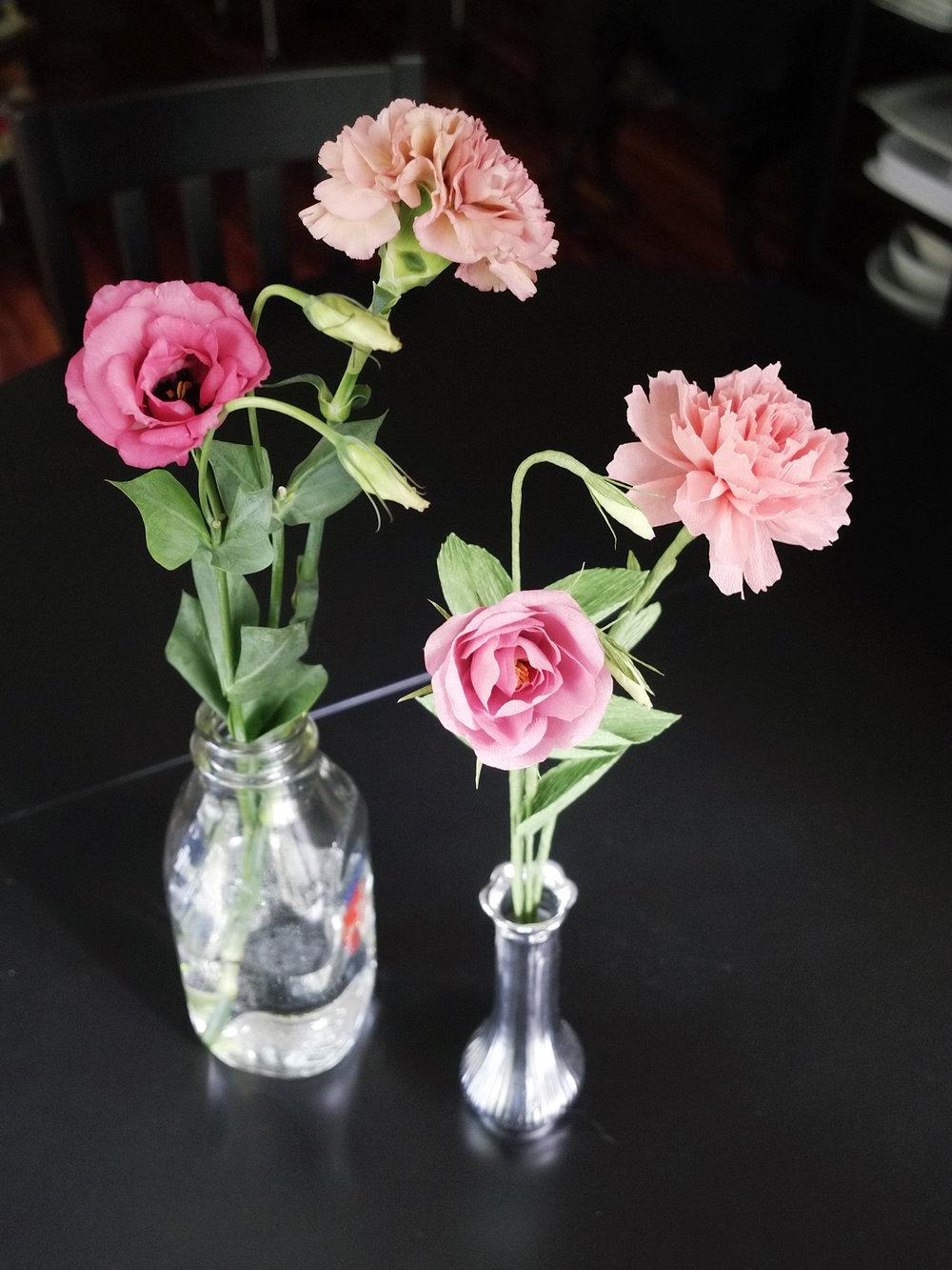 Paper Rose Lisianthus Study 1